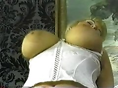 Antique chubby blond with huge tits