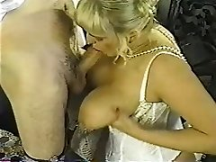 Vintage lush blond with huge tits