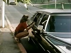 Damsel hitchhiker gets limo ride
