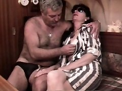 Antique French sex flick with a mature hairy couple