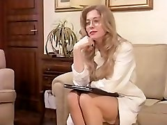 Antique Hairy Mature has a Threeway and DP in Lingerie!