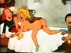 Dibujos animados retro de Mierda