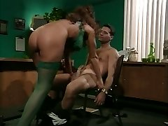 retro busty milf analinis office