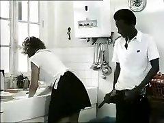 Exotic amateur Retro, Interracial pornography clip