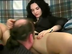 A damsel making guy gobble her pretty fuckbox and treating him like shit