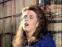 Girl in doorway rubs pussy 80's