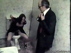 Humping on the bathroom floor