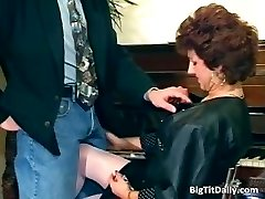 Nasty Milf maid inhales on her bosses part5