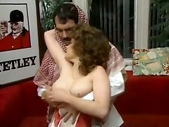 Chubby dark-haired secretary gets laid with mouthy Arab guy