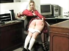 All spanked with their pussys exposed