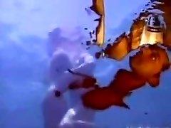 A wet wish - underwater anal.