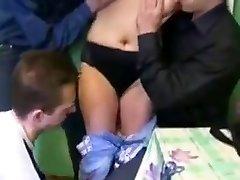Naughty Japanese girl in Horny Russian, Gimp JAV movie