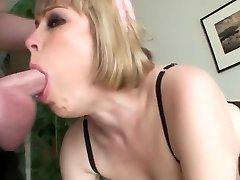 Buxom blondie an sloppy throat face fuck swallow