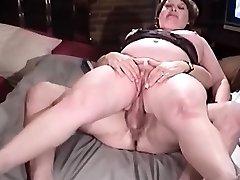 Granny sphincter sit on penis