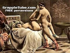 Vintage retro classical hardcore fucking and oral hardcore fuck-a-thon perversions