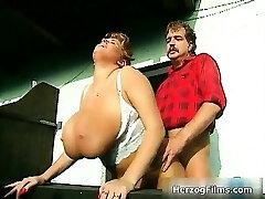 Super-naughty lumber jack is cock sucked