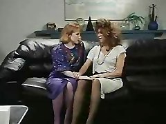 Retro Office Lesbians Honeypot and Ass Licking Cord-On