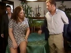 Two dicks for a buxom crumpet