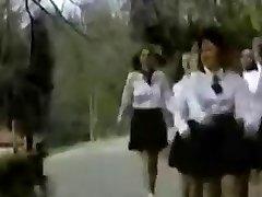 Vintage College Girls Enjoyment.