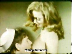 Girlfriend's Deepthroat Mouth Cumshot (1960s Antique)