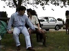 Vintage clip of Honies enjoying flashing public hookup
