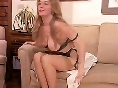 Vintage Hairy Mature has a Threesome and Double Penetration in Underwear!