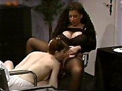 Huge-titted Tiziana Redford in Black Lingerie all girl scene
