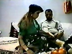 Vintage arab amateur couple make hard homemad