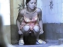 Russian Public Toilet Spy Web Cam - Retro Voyeur 01
