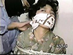 Sexy vintage BDSM handballing movie of a male slave