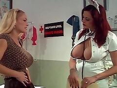 Big-boobed nurse donita dunes check out tanya daniele