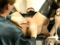 Bizarre german antique rubber gyno session