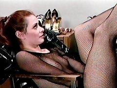 Spandex boots fetish babes having fun