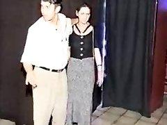 Pregnant BDSM girl ravaged in sexshop