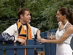 Karen Lancaume 3some outdoors