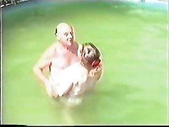 Senior couple having Sex in The Pool Part 1 Wear Tweed