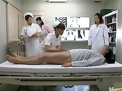 Crazy Asian nurses take turns railing patient