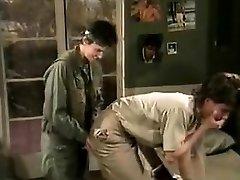 Jamie Summers, Kim Angeli, Tom Byron in old school sex sequence