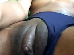EBONY Gf Toying WITH HER FAT CLIT