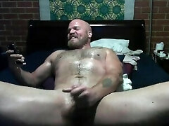#PRIDE2019 - Gay-for-pay Dad fucks himself with wife's dildo for his Step-brother