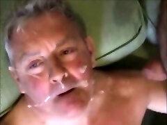 Cum eating dad