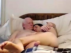 grandpa and younger on cam