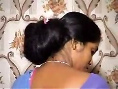 Floor length Indian hair wash by husband