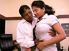 Desi College Gal Romancing With Professor For Promotion - Big Boob Pressed Bgrade