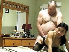Asian fledgling professional mature blowjob porn