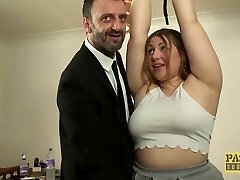 British BBW rammed and punished by insatiable older guy