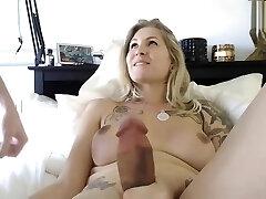 hot blonde milf big beef whistle shemale anal fuckfest with boyfriend on webcam
