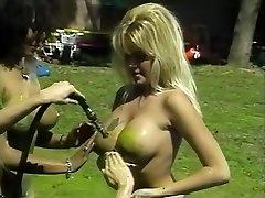 Amazing pornographic stars Isis Nile, Paula Price and Danyel Cheeks in best fetish, vintage adult scene
