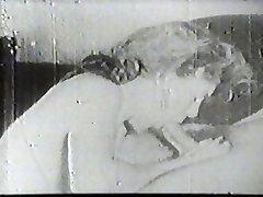 Hot slut gargling vintage cock