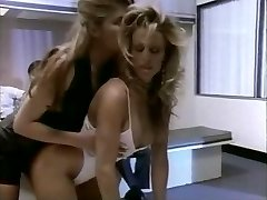 Retro lesbian whores licking their coochies in the airport